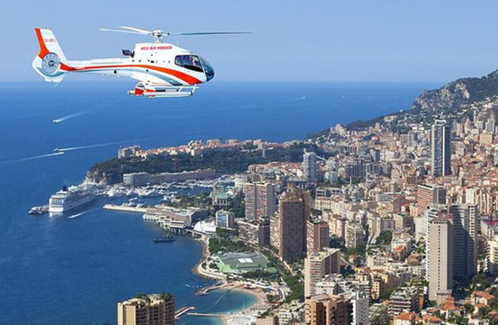 Transfers Nice Monaco, helicopter Riviera, Succes Event